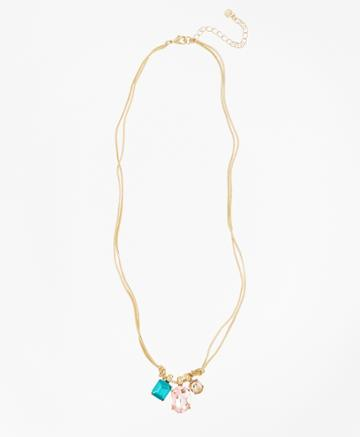 Brooks Brothers Women's Multi-crystal Drop Necklace