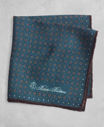 Brooks Brothers Men's Golden Fleece Dot And Paisley Pocket Square