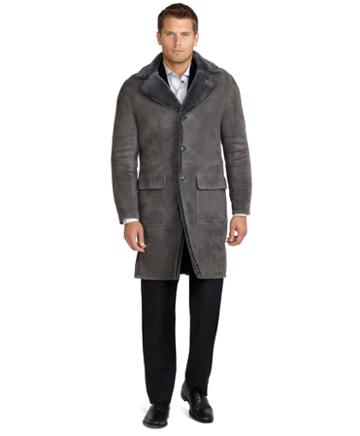 Brooks Brothers Daniel Shearling Coat