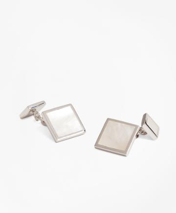 Brooks Brothers Men's Square Mother-of-pearl Cuff Links
