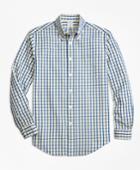 Brooks Brothers Men's Regent Fit Yellow Check Seersucker Sport Shirt