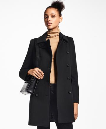Brooks Brothers Women's Brushed Wool Twill Peacoat