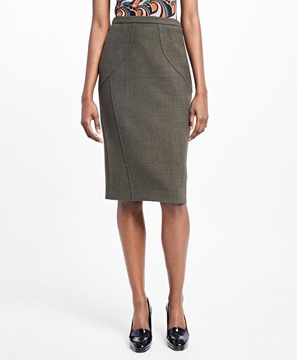 Brooks Brothers Stretch-wool Pencil Skirt