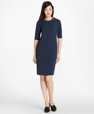 Brooks Brothers Women's Matte Satin Shift Dress