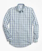 Brooks Brothers Regent Fit Plaid Seersucker Sport Shirt