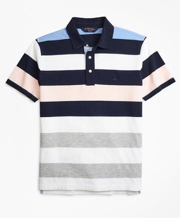 Brooks Brothers Slim Fit Roadmap Bold Stripe Polo Shirt