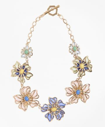 Brooks Brothers Floral Necklace