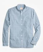 Brooks Brothers Men's Checkered Broadcloth Oxford Sport Shirt