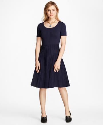 Brooks Brothers Women's Jacquard Knit Dress