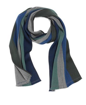 Brooks Brothers Merino Wool Multistripe Scarf