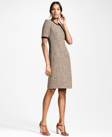 Brooks Brothers Women's Checked Tweed A-line Dress