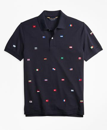 Brooks Brothers Original Fit Flag Embroidered Polo Shirt