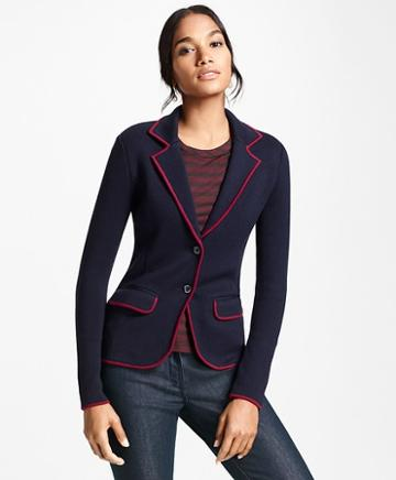 Brooks Brothers Knit Merino Wool Rowing Blazer