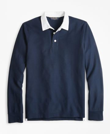 Brooks Brothers Men's Slim Fit Rugby Shirt