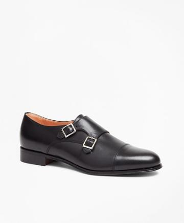 Brooks Brothers Leather Cap-toe Monk Straps