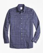 Brooks Brothers Regent Fit Cotton Cashmere Windowpane Sport Shirt