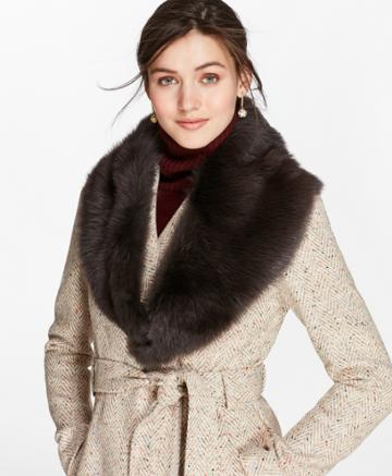 Brooks Brothers Women's Toscana Shearling Scarf