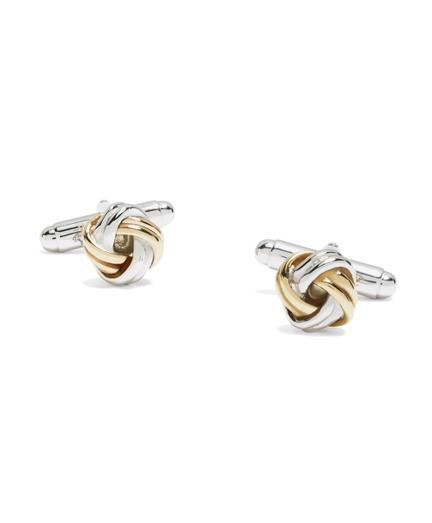 Brooks Brothers Gold-on-silver Knot Cuff Links