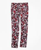 Brooks Brothers Cotton Sateen Floral Skinny Pants