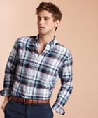 Brooks Brothers Madras Cotton Sport Shirt