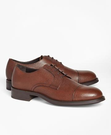 Brooks Brothers 1818 Footwear Textured Leather Captoes