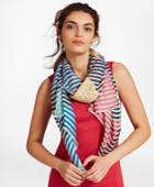 Brooks Brothers Women's Striped Silk-blend Scarf