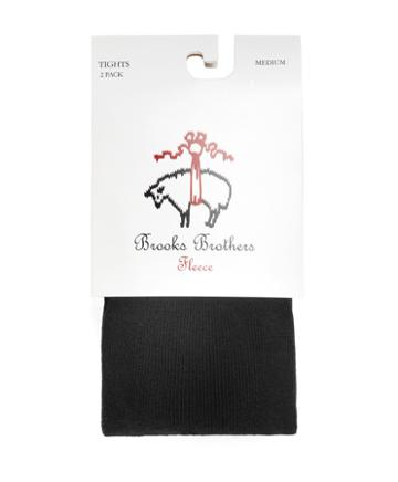 Brooks Brothers Black Solid Two Pack Tights