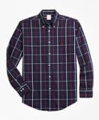 Brooks Brothers Non-iron Madison Fit Double-windowpane Sport Shirt