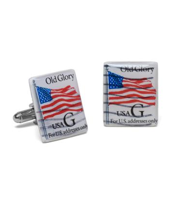 Brooks Brothers Old Glory Stamp Cuff Links