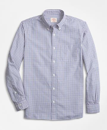 Brooks Brothers Checkered Cotton Basketweave Sport Shirt