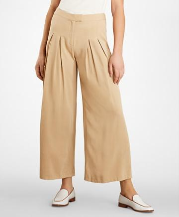 Brooks Brothers Pleat-front Wide-leg Pants