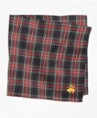 Brooks Brothers Black Stewart Tartan Pocket Square
