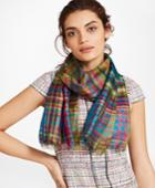 Brooks Brothers Women's Madras Silk Oblong Scarf