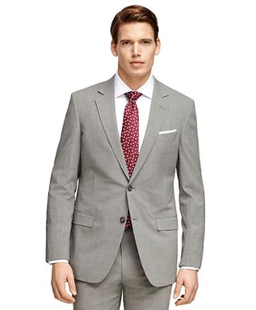 Brooks Brothers Fitzgerald Fit Brookscool Grey Tic Suit