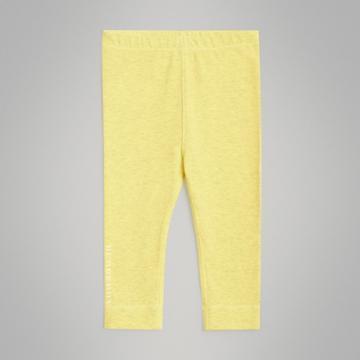 Burberry Burberry Childrens Logo Print Stretch Jersey Leggings, Size: 12m, Yellow