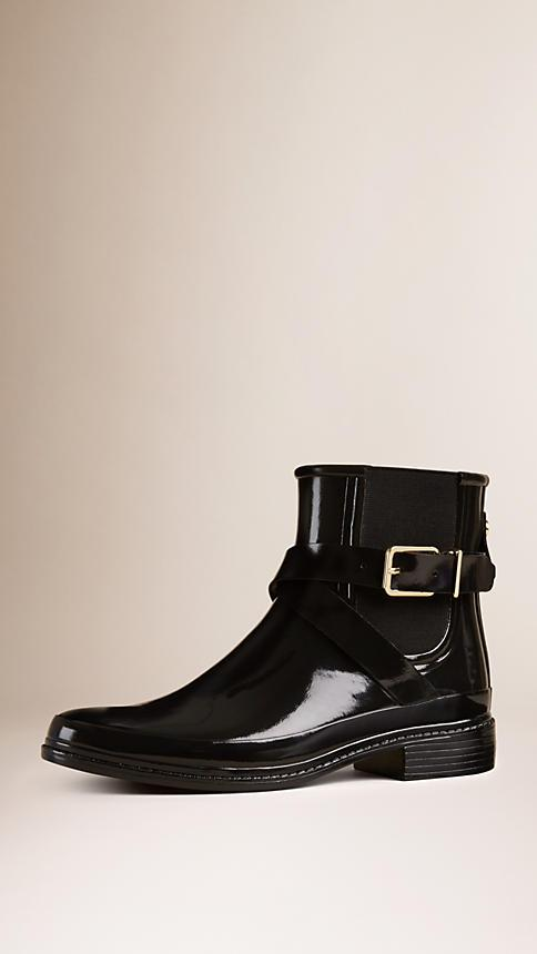 Burberry Belted Chelsea Rain Boots