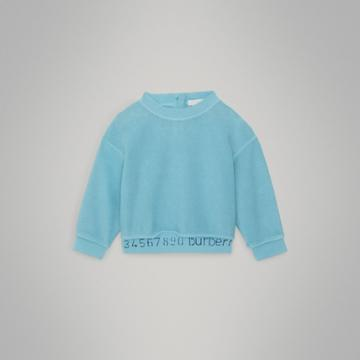 Burberry Burberry Childrens Stencil Logo Print Cotton Sweatshirt, Size: 12m, Blue