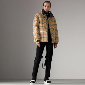 Burberry Burberry Vintage Check Reversible Puffer Jacket, Size: Xxl