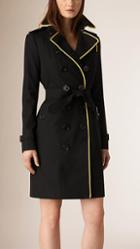 Burberry Military Cording Cotton Gabardine Trench Coat