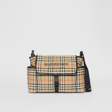 Burberry Burberry Childrens Logo Print Vintage Check Baby Changing Bag, Beige