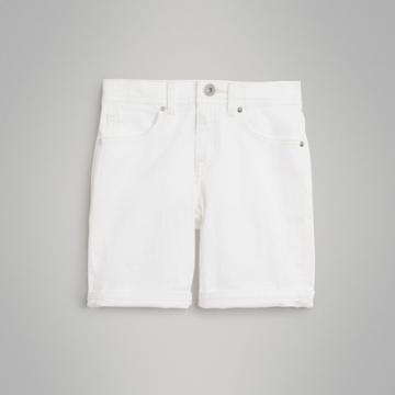 Burberry Burberry Childrens Relaxed Fit Stretch Denim Shorts, Size: 14y, White