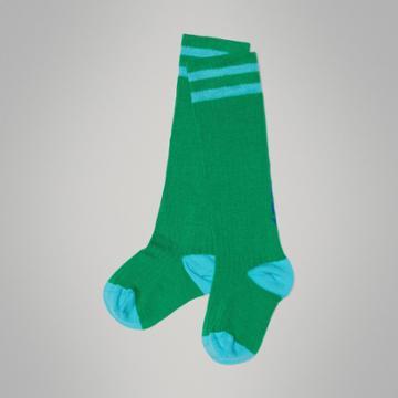 Burberry Burberry Childrens Logo Striped Cotton Blend Socks, Size: 27-29, Green