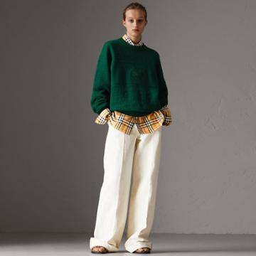 Burberry Burberry Reissued Wool Sweater, Green