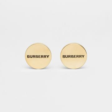 Burberry Burberry Engraved Gold-plated Cufflinks, Yellow