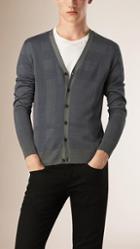 Burberry Silk Check Cardigan