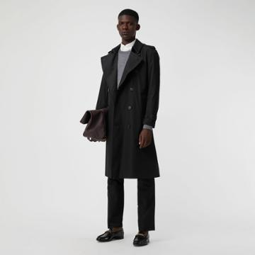 Burberry Burberry The Long Kensington Heritage Trench Coat, Size: 42, Black