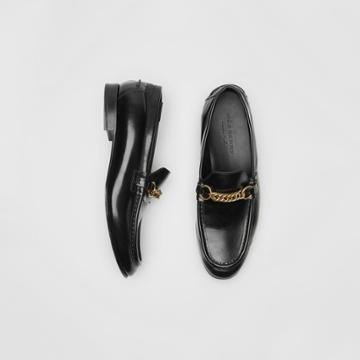 Burberry Burberry The Leather Link Loafer, Size: 42, Black