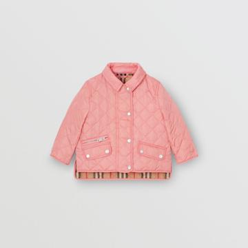 Burberry Burberry Childrens Lightweight Diamond Quilted Jacket, Size: 2y, Pink