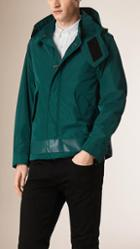 Burberry Brit Technical Jacket With Detachable Hood