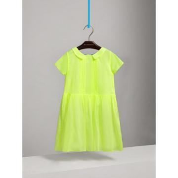 Burberry Burberry Pintuck Detail Cotton Voile Dress, Size: 10y, Yellow